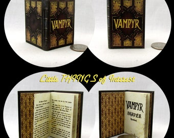 The VAMPYR SLAYERS HANDBOOK 1:6 Scale Readable Book Barbie Vampire Handbook