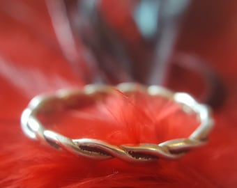 Braided Sterling Silver Eternity Band  (st - 1741)