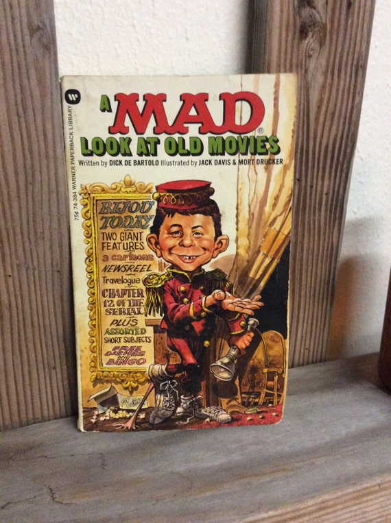 A Mad Look At Old Movies, Mad Book, Dick De Bartolo book, vintage Mad book, 1973 Mad book, humourous classic Mad book