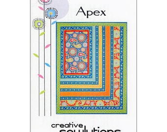 """Pattern """"Apex"""" Quilt pattern by Creative Sewlutions (CS416) Paper Pattern"""