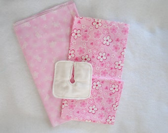 Dainty Pinks -- Set of 4 Trach Pads