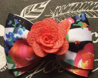 "2"" Floral Mini Bow"