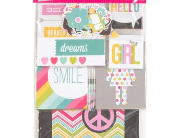 Simple Stories Her SN@P! Pack, Includes Double-Sided Cards and Bits and Pieces
