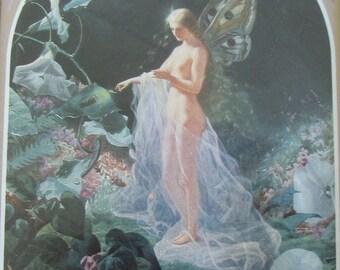 Fairy Print - Tatania from the Midsummer Night's Dream - John Simmons - in 5 x 7 Gold Frame