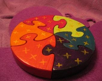 CIRCLE 6 piece WOODEN PUZZLE