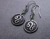 Leo earrings, SMALL silver earrings, Leo jewelry, Leo Astrology jewelry, Leo zodiac sign, Leo zodiac, zodiac jewelry, fine silver earrings