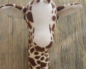 """Faux Taxidermy Giraffe Cream Snout and Neck Tuft 18.5"""" Tall x 11"""" Wide x 9"""" Deep"""