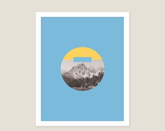 "Mountain Graphic 16"" x  20"""