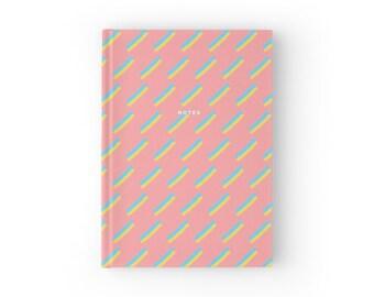 Pastel Pencil Stroke Watercolor Notebook Hardcover or Spiral