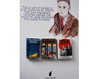F. Scott Fitzgerald's miniature book magnets set