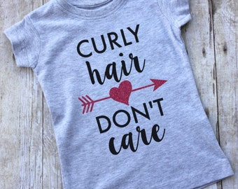 Curly Hair Don't Care Toddler or Youth Girl's T-Shirt