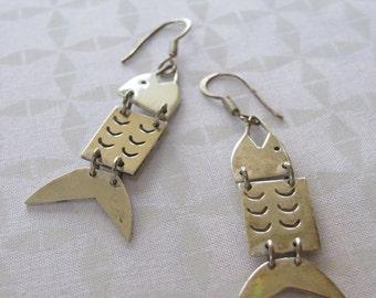 Dangle Fish Earrings
