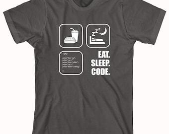 Eat. Sleep. Code. Shirt - Gift Idea, Nerd, Coder, IT Support, Tech Support - ID: 271