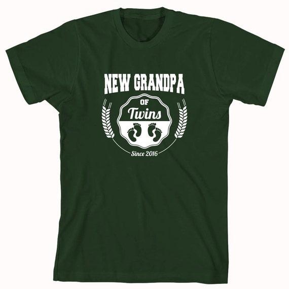 New Grandpa of Twins Since 2016 Shirt - grandpa, fathers day, christmas gift idea - ID: 799