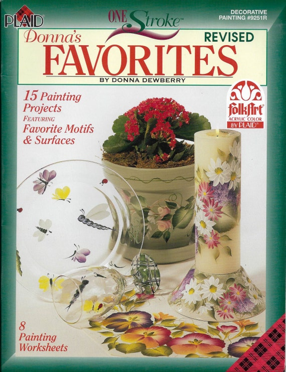 Donna's Favorites - One Stroke Decorative Painting Book #9251R ...