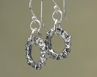 Artisan Sterling Silver Organic Earrings – Calieri