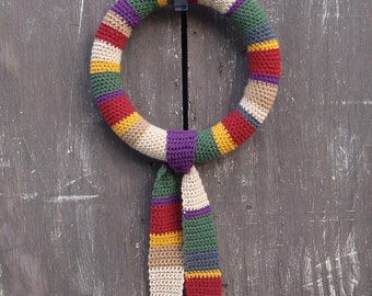 Tom Baker 4th Doctor Who Scarf Wreath