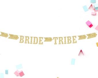 Bachelorette Party, Bridal Party Banner, Bride Tribe, Glitter Banner, Bachelorette Idea, Bride Tribe Squad, Party Decoration, Shower Banner
