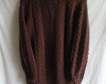 Hand knit wool sweater