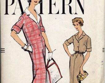 Vintage Vogue 9415 Chemise Dress Pattern, Size 14, Bust 34, 1950s style