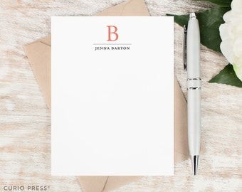 Personalized Note Card Set / Personalized Stationery / Personalized Stationary Cards / monogram stationery //TRADITIONAL MONOGRAM