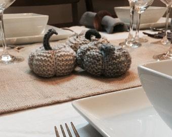 Set of 3 Knitted Pumpkins