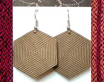 Recycled Cardboard Earrings - Made to Order