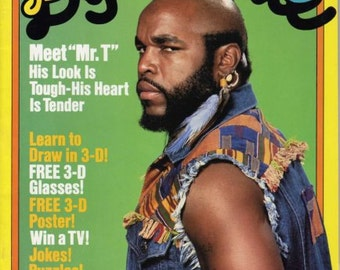 Mr T, The A-Team, Dynamite Magazine Cover, 1984, Mr T Article, Scholastic Publication, A Team