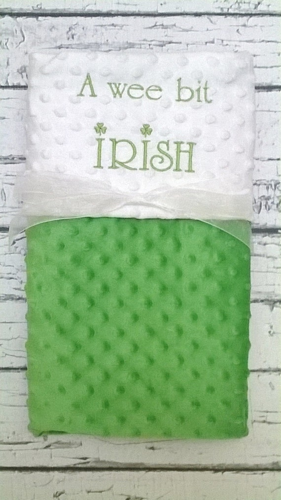 Neutral Baby Gifts Ireland : A wee bit irish baby blanket personalized minky