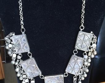 One of a kind vintage metal necklace