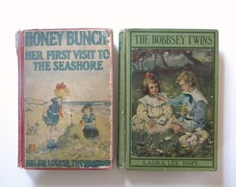 1904 Bobbsey Twins and 1924 Honey Bunch antique books