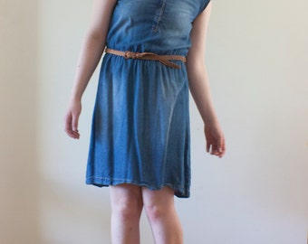 Faux Denim Dress