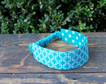 Reversible Fabric Headband, Girls Headband, Reversible Headband, Women's Headband, Ladies Headband, Print Fabric Headband, Birthday Gift