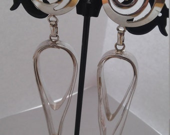 One of a kind hand made sterling silver earring