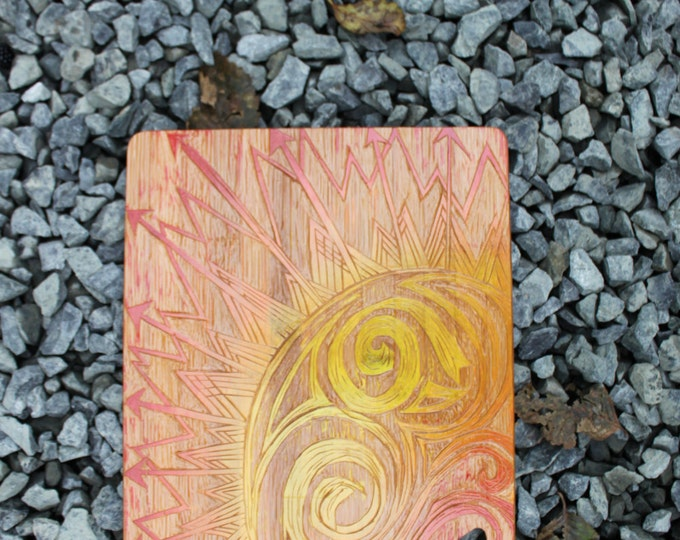 Sun Rays Bamboo Cutting Board