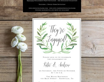 Printable Engagement Party Invitation - the Annaleigh Collection