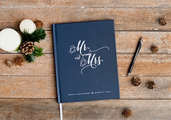 Wedding Guest Book Wedding Guestbook custom guest book rustic wedding sign in book personalized photo booth wedding gift for bride planner