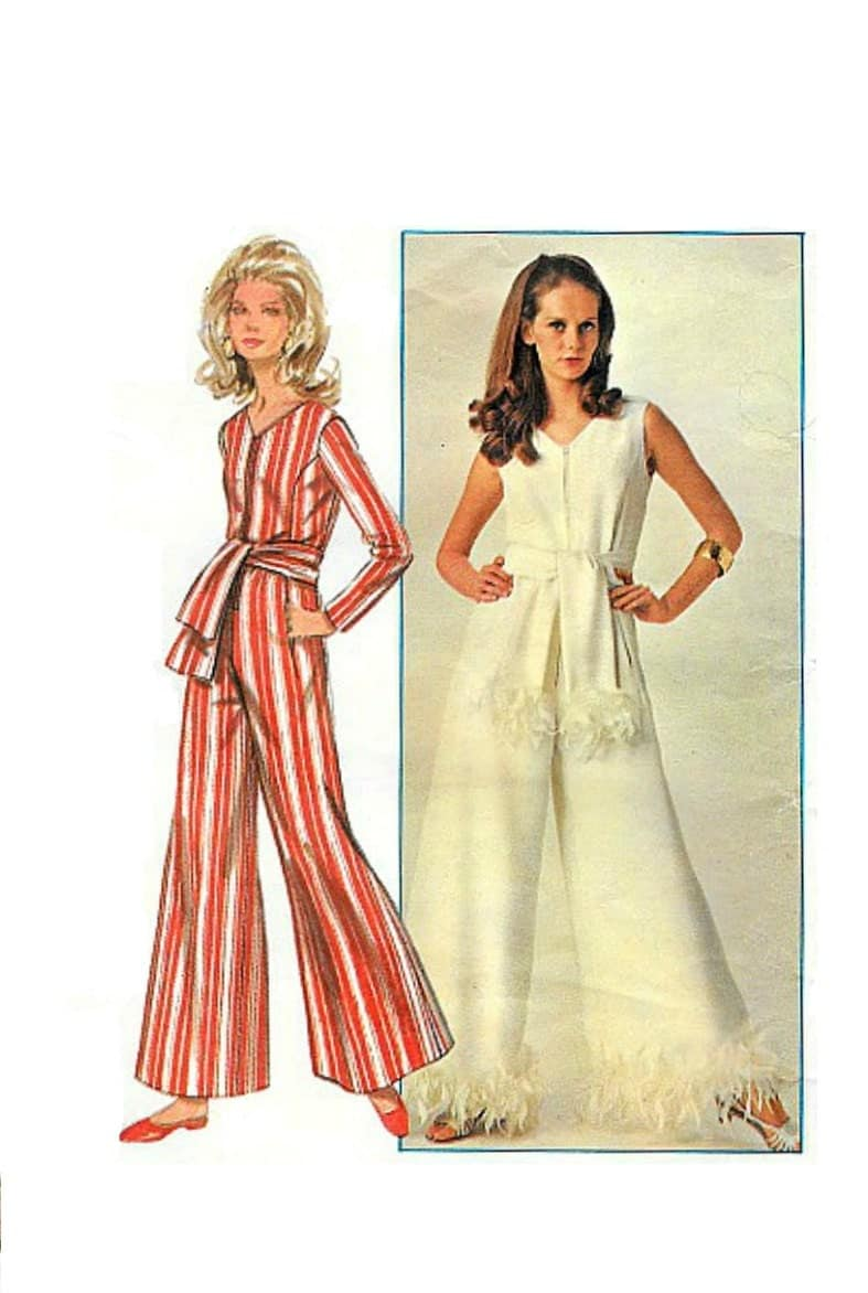 Vintage Jumpsuit Sewing Pattern 60 S Butterick 4914