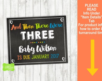 Rainbow Pregnancy Announcement Sign - Printable Pregnancy Announcement Sign - Digital Chalkboard Sign - Pregnancy Reveal Sign