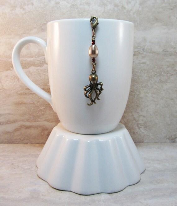 Octopus loose tea infuser charm jules verne antique bronze - Octopus tea infuser ...