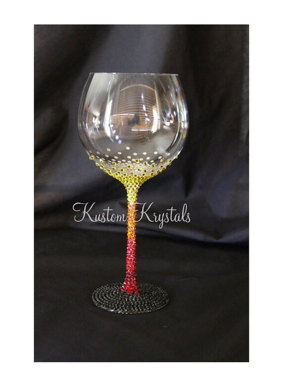 Sale Swarovski Crystal Embellished Wine Glass By