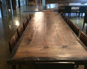Reclaimed wood dining table 12 foot  Conference table top