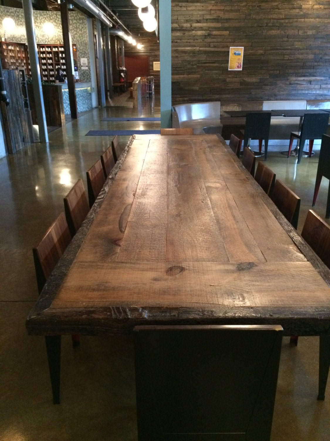... Reclaimed wood dining table 12 foot Conference table top. 🔎zoom - Reclaimed Wood Dining Table 12 Foot Conference Table Top