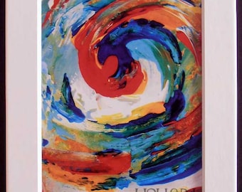 Matted Art Print - Colors of Goodness Collection - Matted Print - Swirly