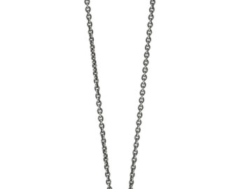 Icosahedron Silver Geometric Necklace for Men or Women