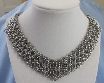 Stainless Steel European 4 in1 Chain Maille Choker to Necklace