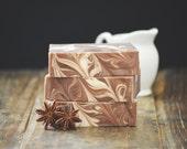 Vanilla Sandalwood Soap | Aromatic Woods + Resins, Body Wash Bar, Artisan, Cold Process, Handmade, Vegan, Gift, Mystic Incense, Homemade