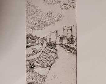 Bolton Castle  Etching