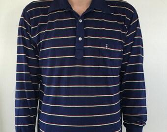 Grand Slam Penguin Munsingwear Long Sleeve Striped Polo