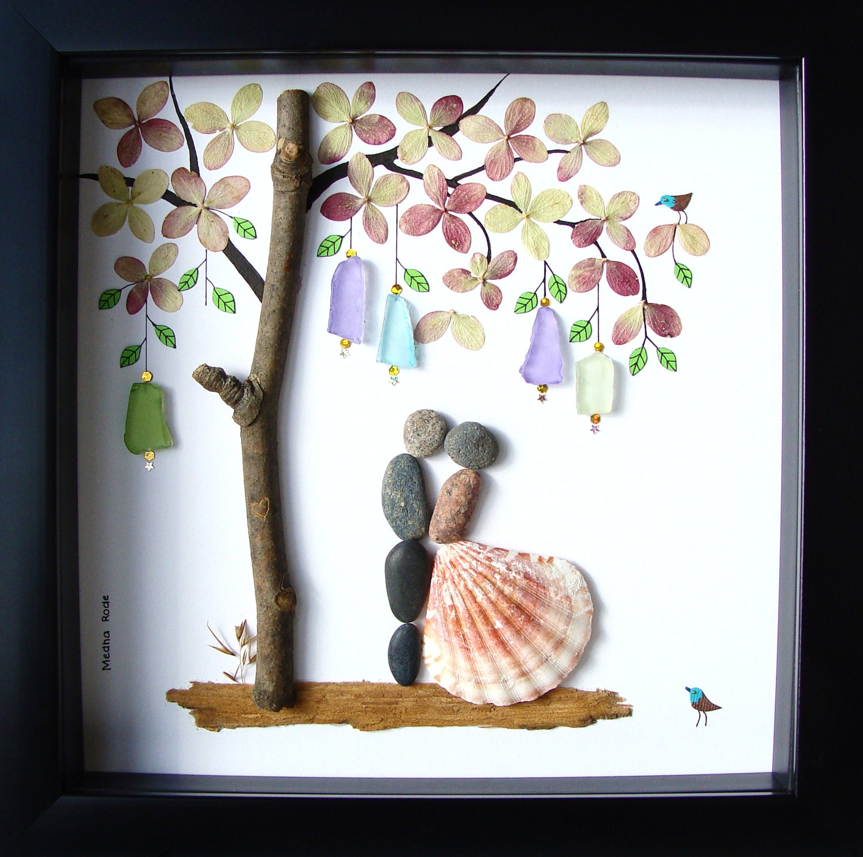Sposa Gift Pebble Art Unique Engagement Gift Personalized